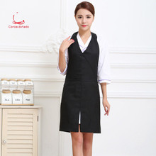 Coffee shop, restaurant, manicure mother and baby waiter, apron, beautician, uniform, customized sleeveless