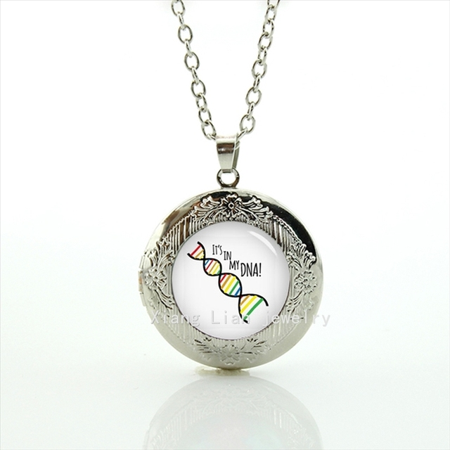listing interlocked genetics il dna pendant necklace printed