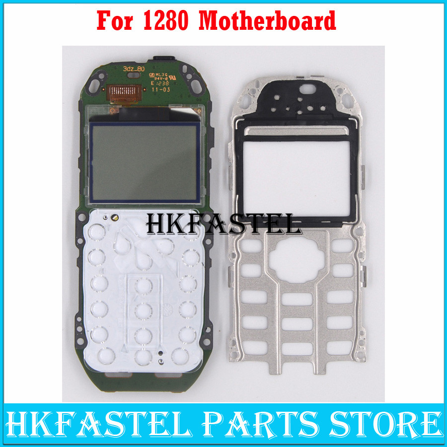 HKFASTEL LCD For <font><b>Nokia</b></font> <font><b>1280</b></font> LCD <font><b>display</b></font> Motherboard replace Mobile Phone Motherboard housing cover With russian language image