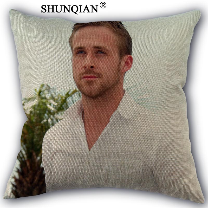 Ryan Gosling Cotton Linen Pillowcase Custom Home Textile Decorative One Side Pillow Covers 45x45cm