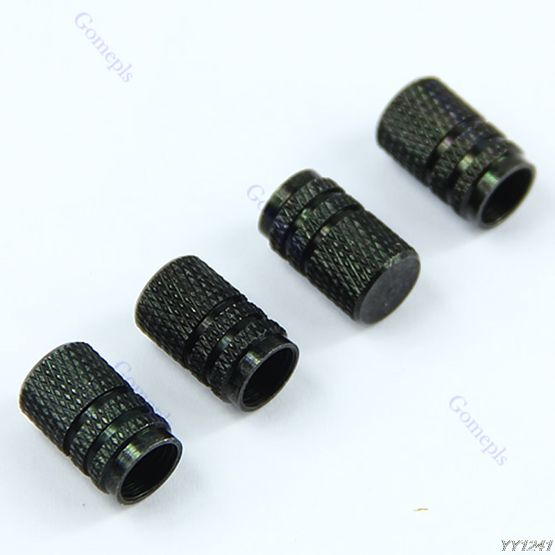 4 PCS Tire Tyre Wheel Hexagonal Ventil Valve Stems Cap For Auto Car Truck Black