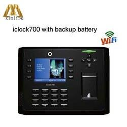 Биометрические WI-FI отпечатков пальцев время записи Iclock700 распознавания отпечатков пальцев контроля доступа время посещения с резервным