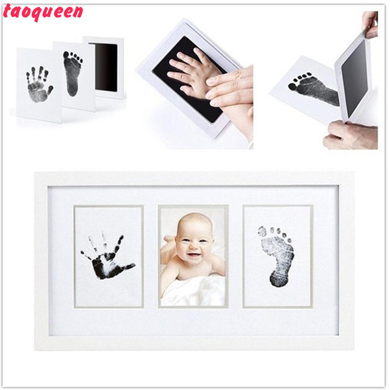 Taoqueen  Non-Toxic Newborn Imprint Hand Inkpad Watermark Infant Souvenirs Casting Clay Toys Gift Baby Handprint Footprint