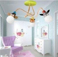משלוח חינם מנורת תקרת חדר ילדים ילדי ילדות חדר מנורת חדר שינה תאורת led מנורה יצירתי מנורה מצוירת לילדים