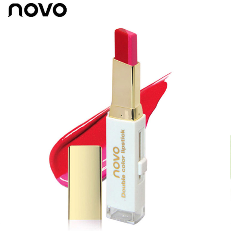 NOVO brand Two Tone Lip Bar Double Color Korean Style Bite Matte Lipstick  Make up Cosmetics Balm Gradient color Lip Stick Pen