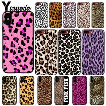 Yinuoda Mode Sexy Luipaard Print Panther DIY Telefoon Case Voor iphone 11 Pro Max X XS MAX 6 6S 7 8plus 5 5S XR(China)