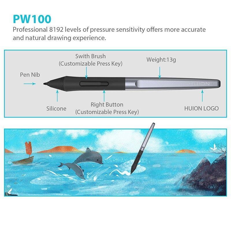 Huion H610 PRO V2 Numérique Tablettes Graphiques Artiste Designer tablette de dessin Tilt Fonction Batterie-stylo gratuit Comprimés pour Gagner et Mac - 3