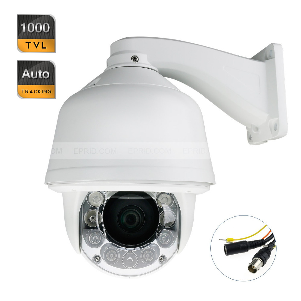 5 1000TVL 1/3 CMOS 22x Zoom IR PTZ DOME Security Auto Tracking Camera удлинитель zoom ecm 3