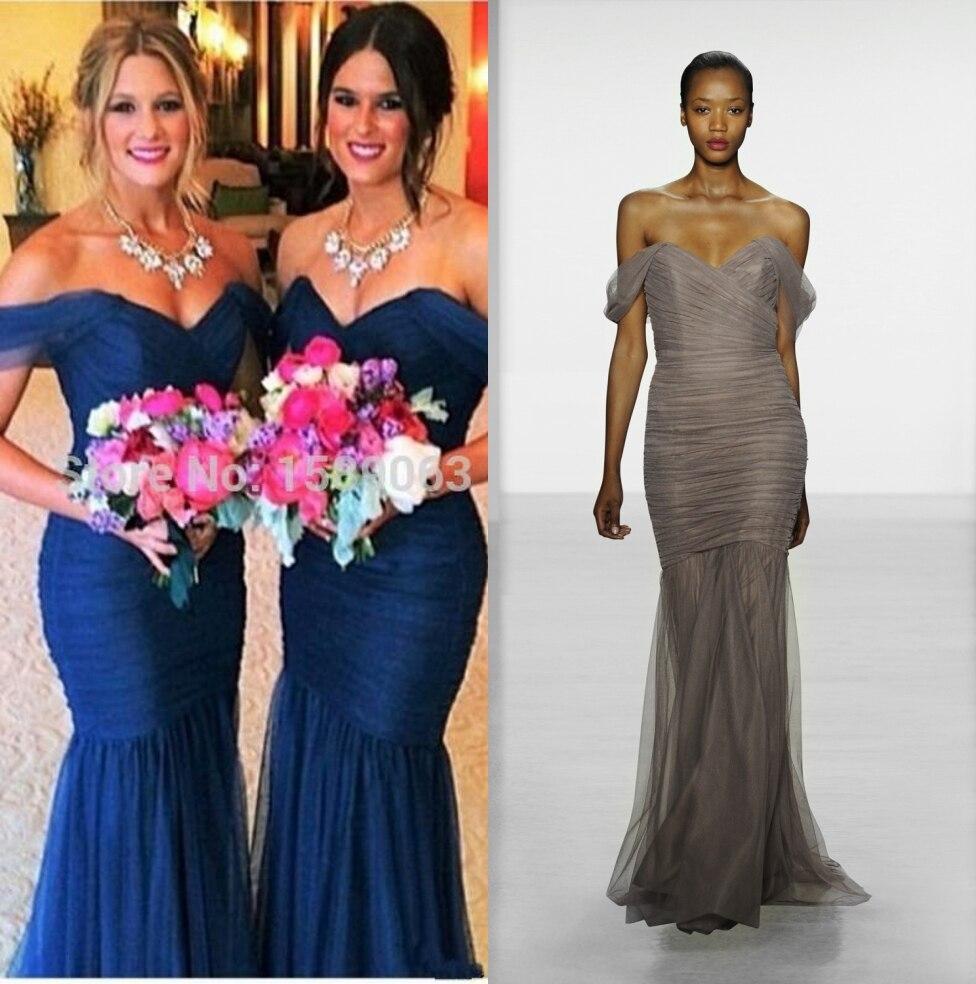 nuevos vestidos de dama de honor de dama vestido formal con sirena fuera del ho