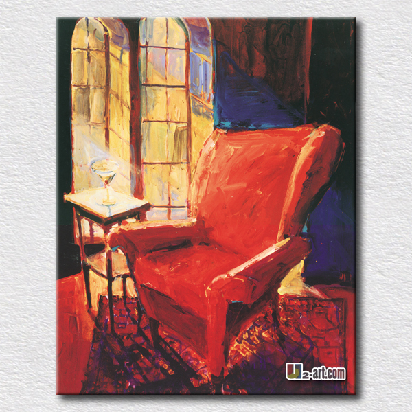 Buy Red Sofa Oil Painting Canvas Art