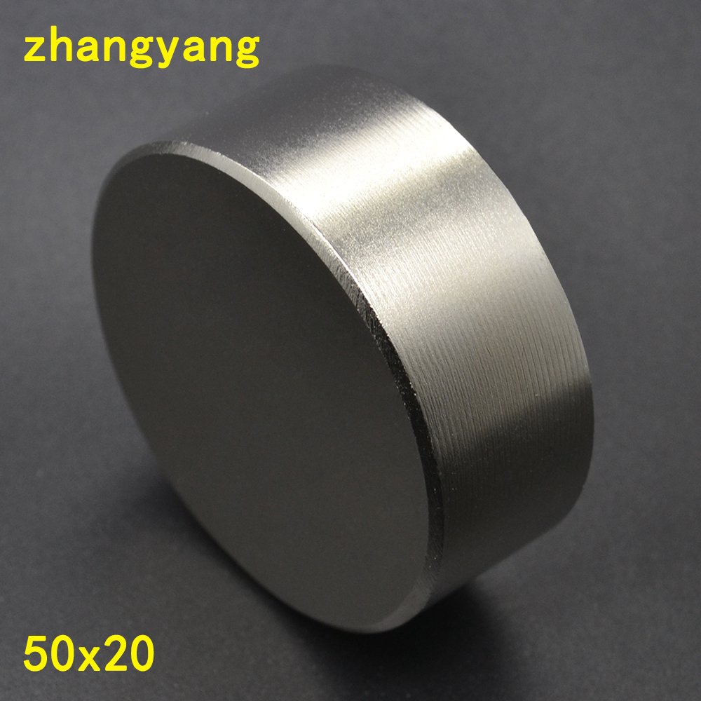 1pcs Neodymium magnet D50x20mm super strong round magnet Rare Earth NdFeb 50*20mm strongest permanent powerful magnetic 1pcs neodymium magnet 30x10 mm rare earth super strong round permanent powerful 30 10mm fridge electromagnet ndfeb magnetic