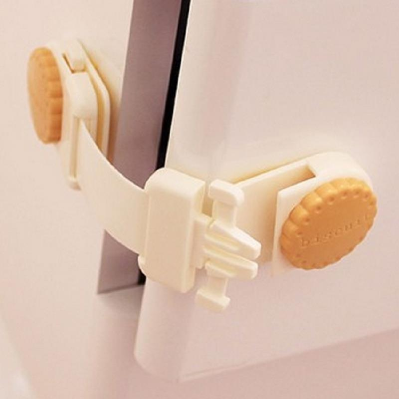 Short baby child proofing safety catches drawer fridge cabinet toilet door lock for kids toddler for Child safe bathroom door locks