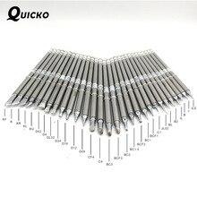 20 ~ 100 stücke T12 löten eisen Tipps sticht für QUICKO OLED Controller FX-951 952 950D schweißen station FX-9501 fm-2028 eisen griff