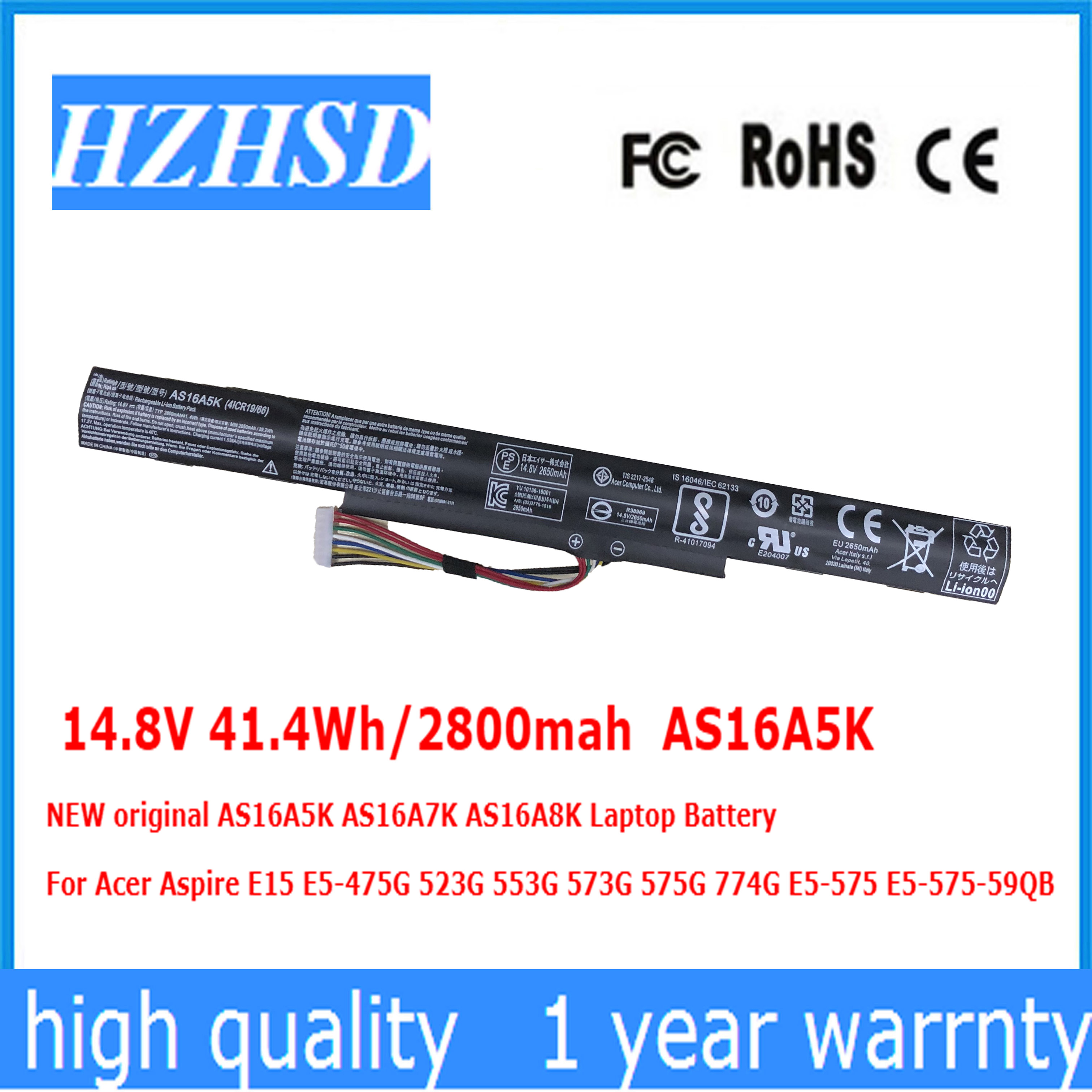 Acer Akku 41,4Wh Original Aspire F5-573 Serie