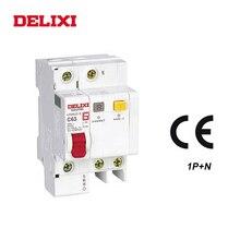 DELIXI CDB6iLE 1 P N 230 V 10A 16A 20A 25A 32A 40/63A остаточный ток мини автомат защити цепи защита от коротких защита от утечки RCBO