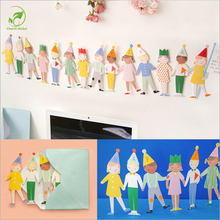 Lovely Kids Paper 3D Greeting Gift Cards Handmade Birthday Cards Postcards Wishes Etiquette Kraft Crafts Festival Blessing Gifts