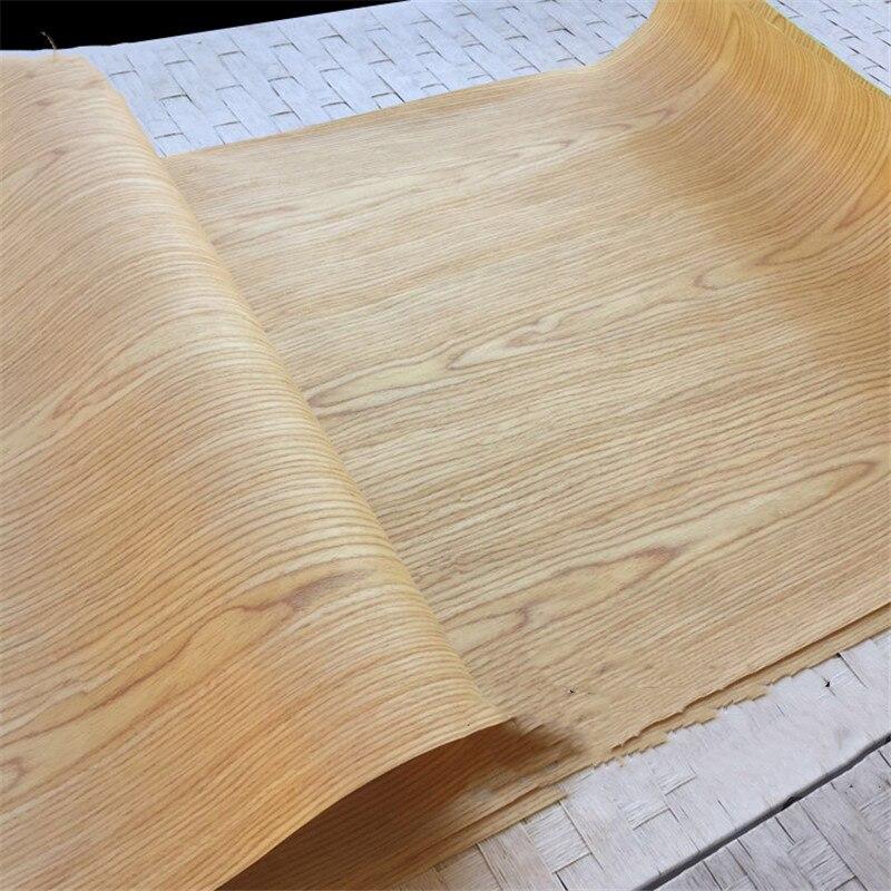 Technical Veneer Sliced Wood Engineering Veneer E.V. Yellow Oak 60x250cm Tissue Backing 0.2mm Thick Q/C C/C