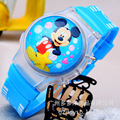 2016 New With Lighting Cartoon Children Watch Students flip electronic watch wholesale  Wristwatches