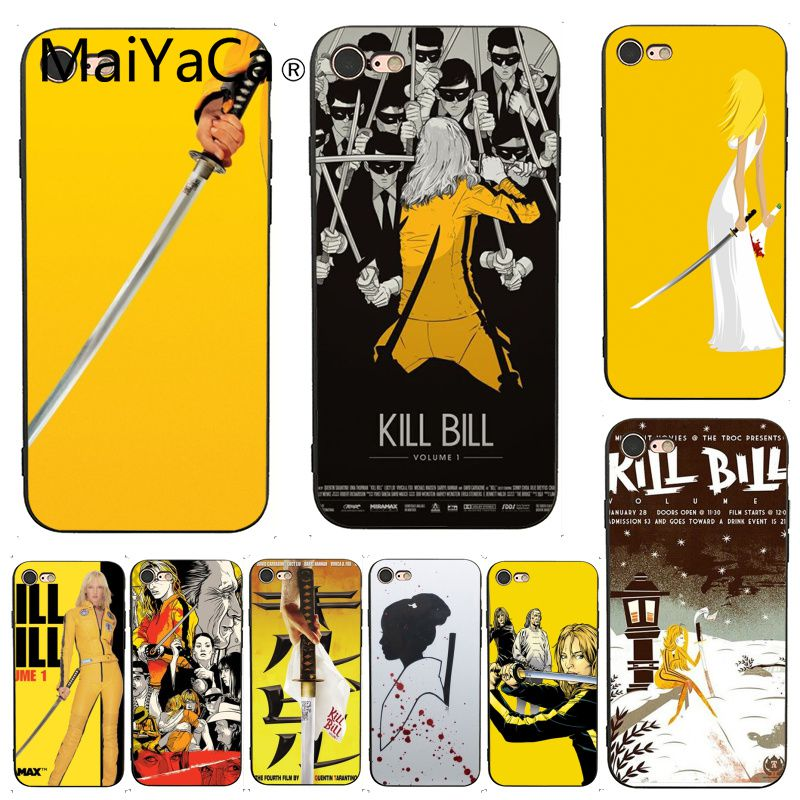 MaiYaCa For iphone 7 Case Kill Bill Movie Hot Selling Design Skin Thin Cell Case for iPhone 7 6 X  6S 7 7plus 8 8Plus 5 5S SE