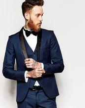 Latest Coat Pant Designs Navy Blue Men Suit Wedding Suits for Men Jacket Tuxedo Slim Fit Skinny 3 Piece Groom Blazer Masculino