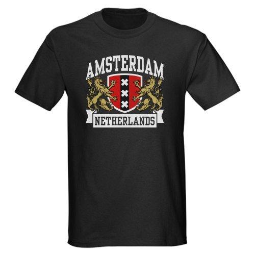 2017 chegada nova Amsterdam Holanda-Escuro T-Shirt 100% algodão O-pescoço Camiseta Casual impressão tops t T Shirt Da Forma curta Topo