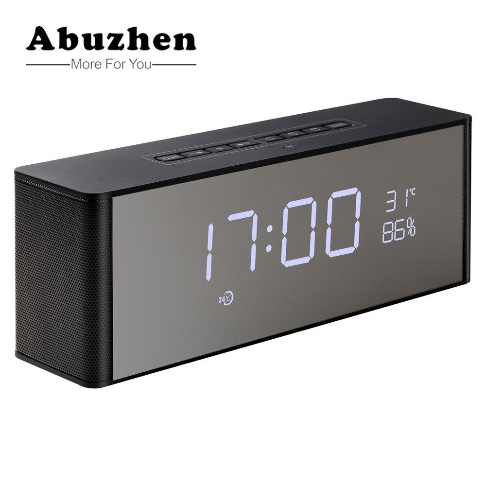Abuzhen enceinte alto-falante bluetooth alto-falante portátil sem fio estéreo altavoz bluetooth para o telefone xiaomi com tf fm alarme clocksom