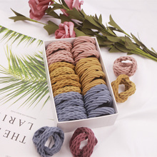 10PCS Elastic Hair Band Colorful Geometric Patterns fashion Ties Girl Scrunchy Rubber Bands Accessories Headdress