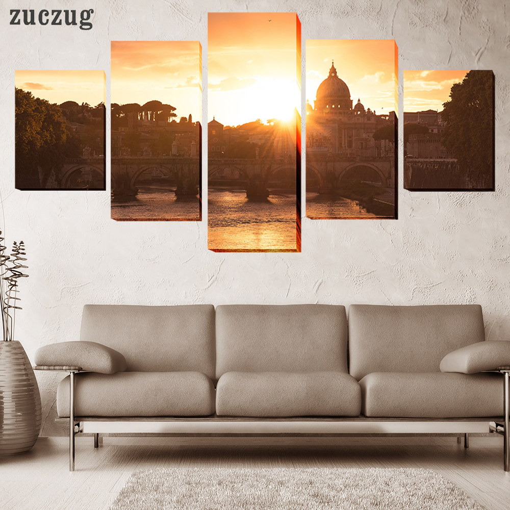 aliexpresscom buy unframed 5pcs hd printed baroque style religious architecture home decor for living room painting on canvas wall art picture from - Baroque Home Decor
