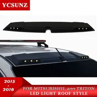 2016 2018 LED Lights Raptor style For Mitsubishi l200 Triton 2017 Front Roof Spoiler For Mitsubshi L200 2018 Accessories Ycsunz