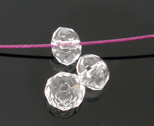 DoreenBeads 200 шт. прозрачные хрустальные граненые бусины Rondelle 5040 4 мм (B05082), yiwu