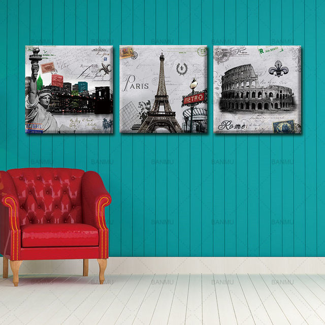 Online Shop Canvas Painting Wall Art Pictures prints on Paris Roman ...