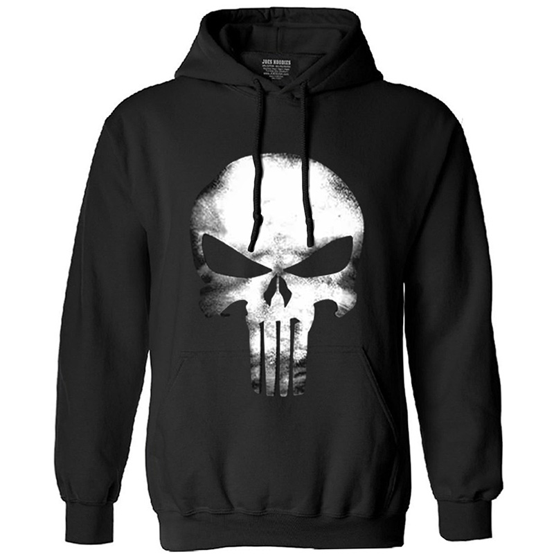 The Homme Skull Long Sleeve Fleece Hip Hop Streetwear Hoodies Men Funny Sweatshirt 2020 Autumn New Fashion Hoodie Man Clothes