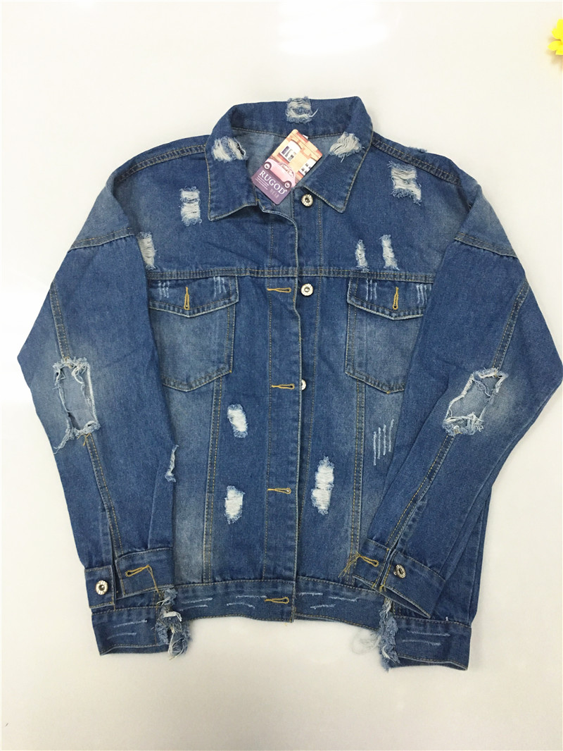 HTB1RuMeV3HqK1RjSZJnq6zNLpXak RUGOD Basic Coat Bombers Vintage Fabric Patchwork Denim Jacket Women Cowboy Jeans 2019 Autumn Frayed Ripped Hole Jean Jacket