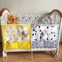 Brand Baby Cot Bed Hanging Storage Bag Cotton Newborn Crib Organizer 60 55cm Toy Diaper Pocket