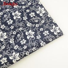 Booksew 100% Cotton Poplin Fabric Home Textile Floral Soft Sewing Navy Blue Tissue For DIY Clothing Girls' Dress Shirt Patchwork(China)