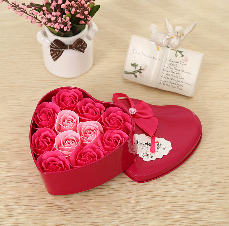 1 Pcs 11 5cm Valentine S Day 11 Rose Flower Soap Love Creative