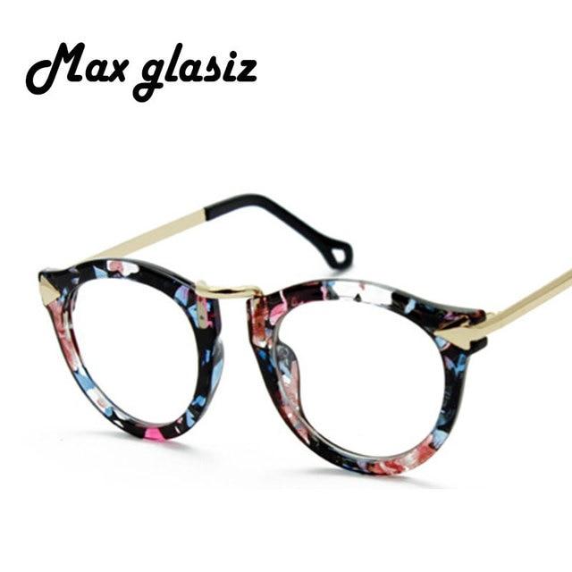 4243673fdbf0 Fashion Lovely Unisex Clear Lens Nerd Geek Glasses Men Women Sunglasses  Eyewear Wholesale Flower lentes de