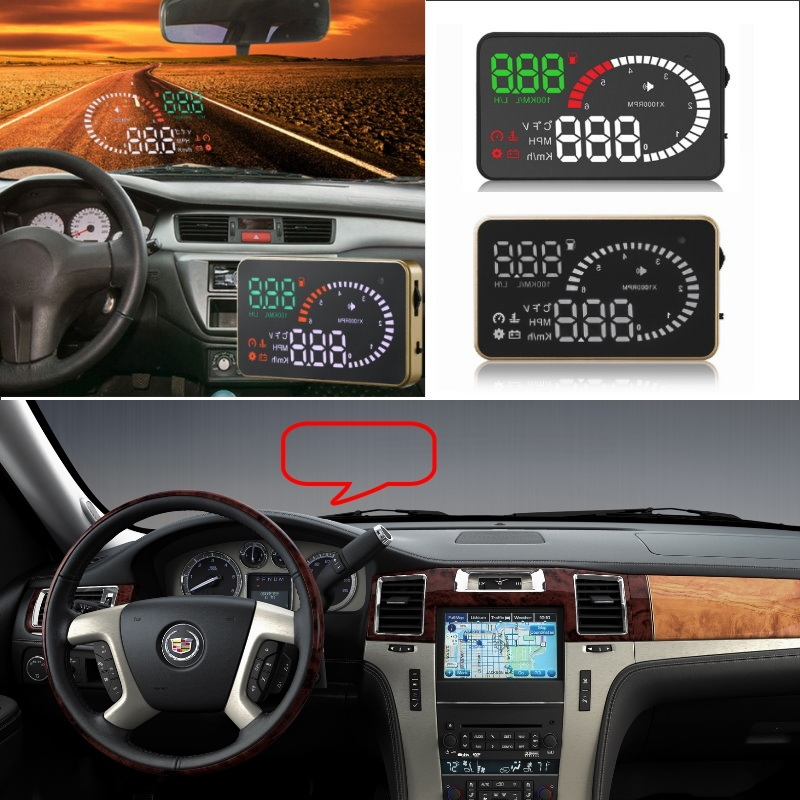 Liislee Car HUD Head Up Display For Cadillac Escalade SRX ATS CTS XT5 STS BLS - Safe Screen Projector / OBD II Connector liislee car hud head up display for subaru forester xu impreza legacy outback safe screen projector obd ii connector