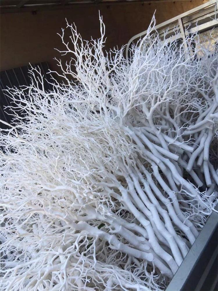 92 см пластиковая ветка кораллового дерева DIY свадебная дорога ведущий домашний садовый декор настенные цветы белые коралловые ветви растение Настенный декор