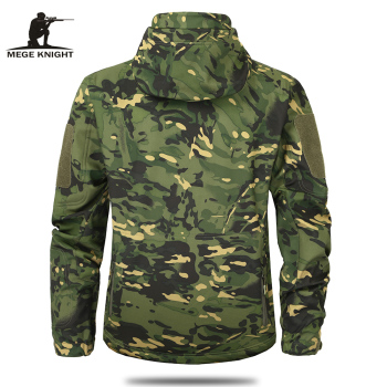 Mege Brand Clothing Autumn Men's Military Camouflage Fleece Jacket Army Tactical Clothing  Multicam Male Camouflage Windbreakers 4