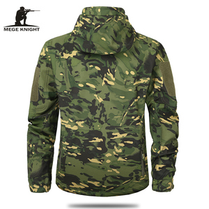 Image 4 - Mege Brand Clothing Autumn Mens Military Camouflage Fleece Jacket Army Tactical Clothing  Multicam Male Camouflage Windbreakers