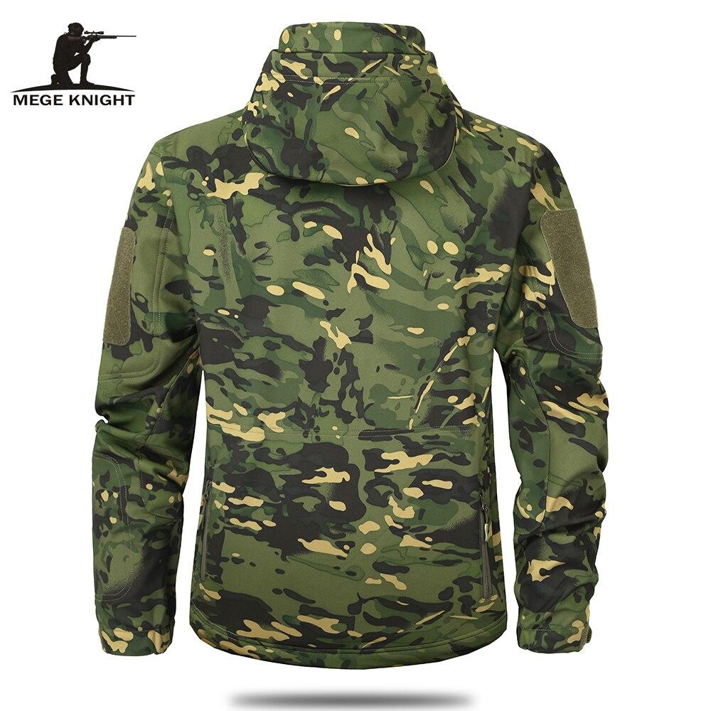 Mege marque vêtements automne hommes Camouflage militaire veste polaire armée tactique vêtements Multicam mâle Camouflage coupe-vent - 4