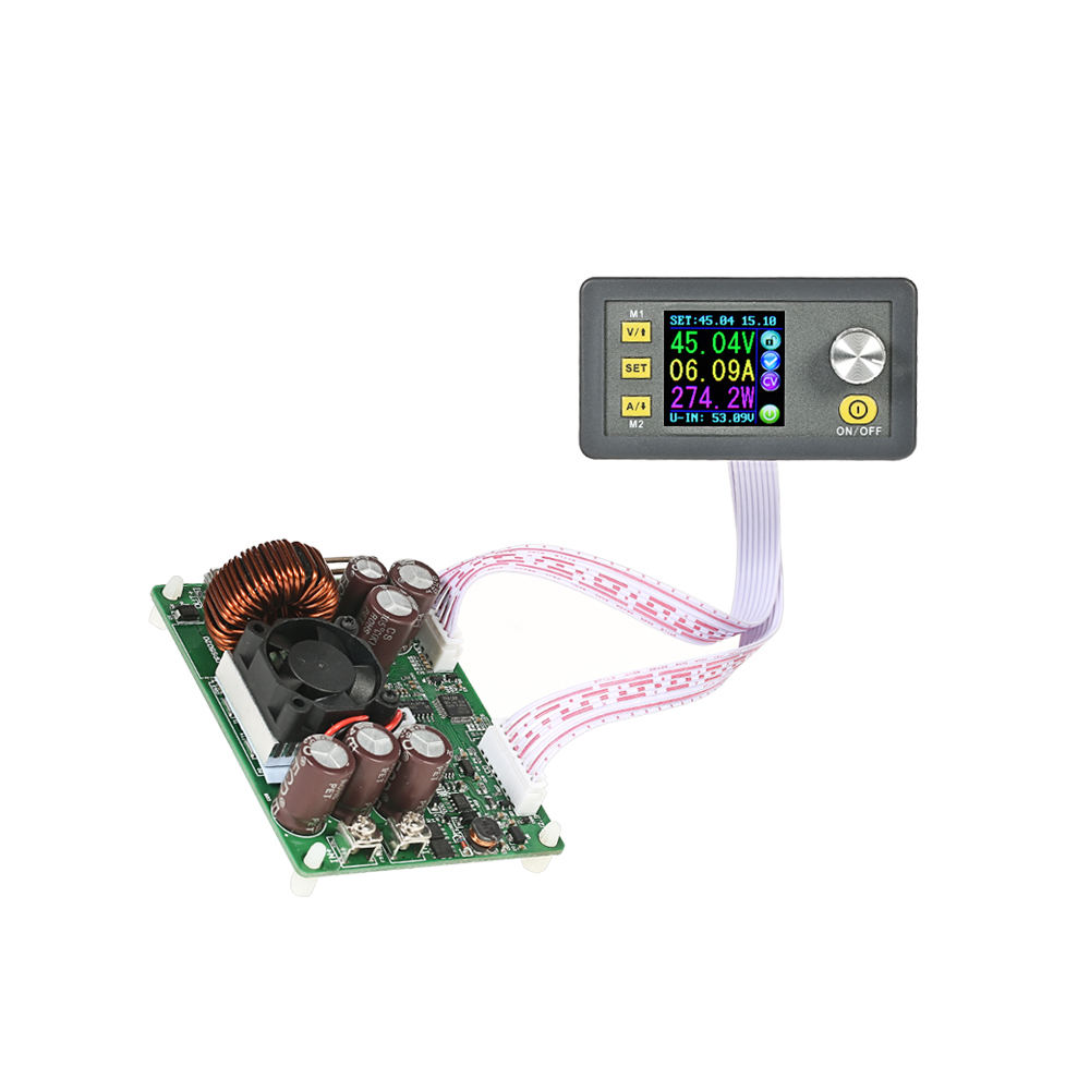 LCD Digital Programmable Power Supply Module Control Buck-Boost voltage regulator Constant Voltage Current DC 0-50.00V/0-20.00A constant digital voltage current meter step down dp50v2a voltage regulator supply module buck color lcd display converter