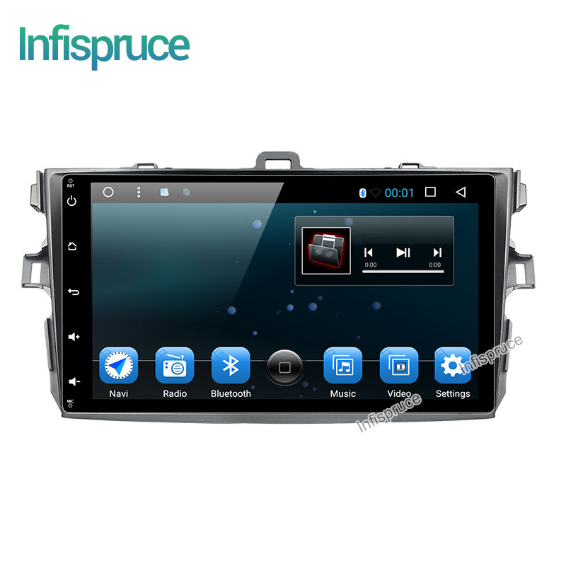 2G 16G Android 6 0 car dvd player for Toyota Corolla Quad Core 9 inch 1024
