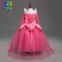 Sleeping Beauty Princess Aurora dress mesh Children costume rapunzel ball gown girl cosplay Princess costumes children EB903