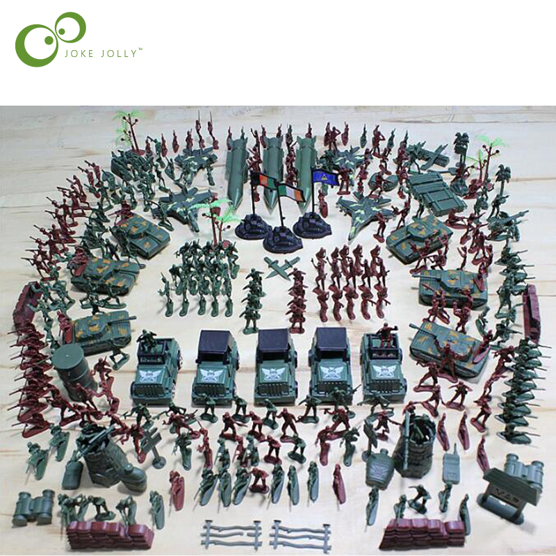 Liberal 307pcs/set Soldier Model Sandbox Game Military Plastic Toy Soldier Army Men Figures & Accessories Playset Model Toy For Boys Wyq Toys & Hobbies