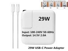 Фирменная Новинка Высокое качество 29 Вт 14.5V2.0A USB-C адаптер питания зарядное устройство (1540) для последней MacBook Pro 12 дюймов A1534 1540 1646 (After2015).