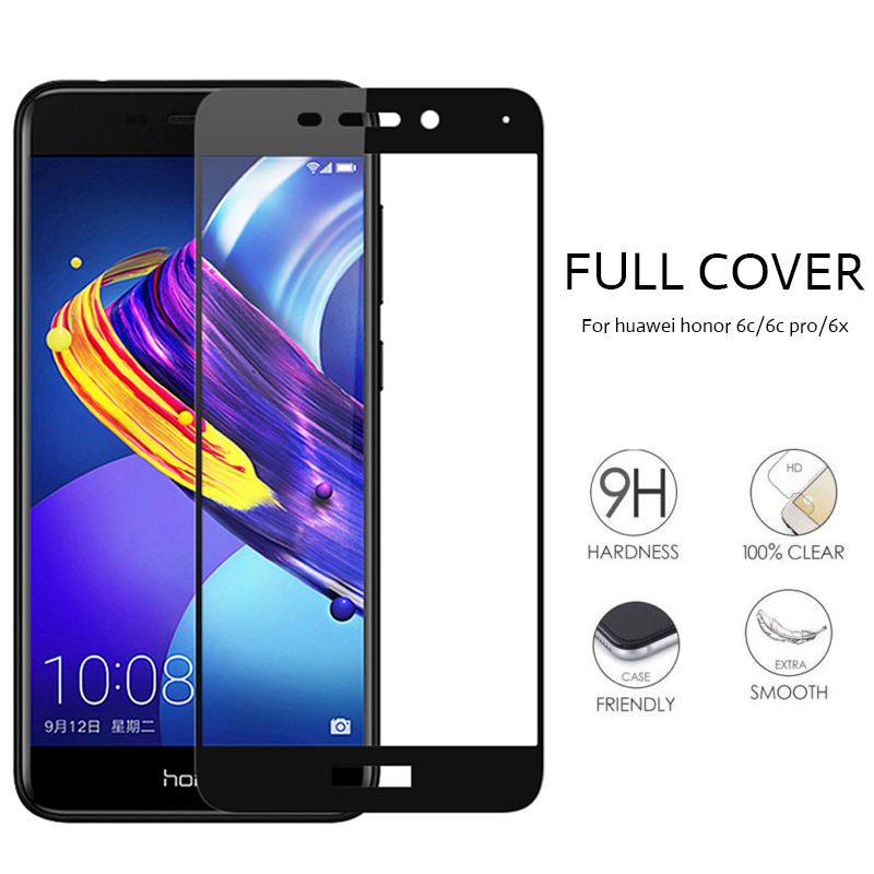Full Cover Tempered Glass For Huawei honor 6X 6C 6A 6 Pro Screen Protector On Huaweel honor 6 A C X Front Anti-fall Glas HD