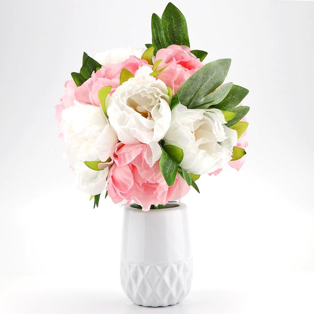 Online get cheap silk wedding flowers bouquets aliexpress 1 bundle 10pcs dual color fake artificial flowers peony silk bridal wedding flower bouquets craft party dhlflorist Gallery