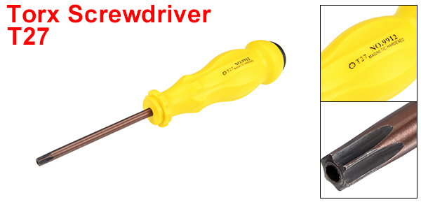 uxcell/® Magnetic T27 Torx Screwdriver with 4 inch S2 Steel Shaft